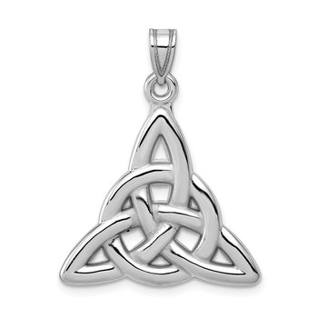 14k White Gold Polished Trinity Knot Pendant