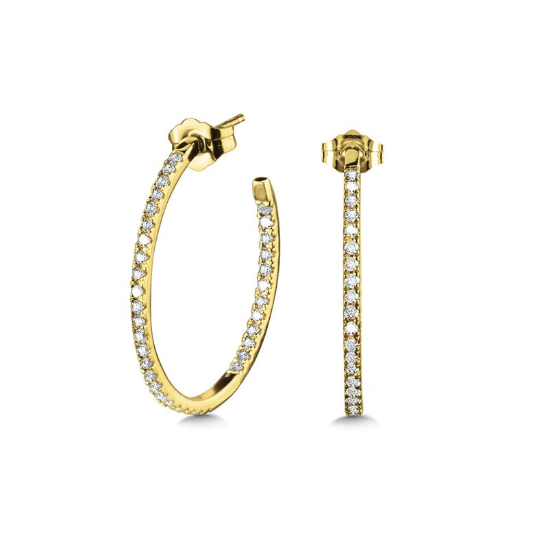 SDC Creations Pave C-Shaped Diamond Hoops