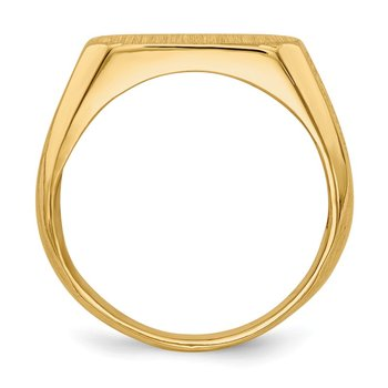 14k 6.0x12.0mm Closed Back Signet Ring