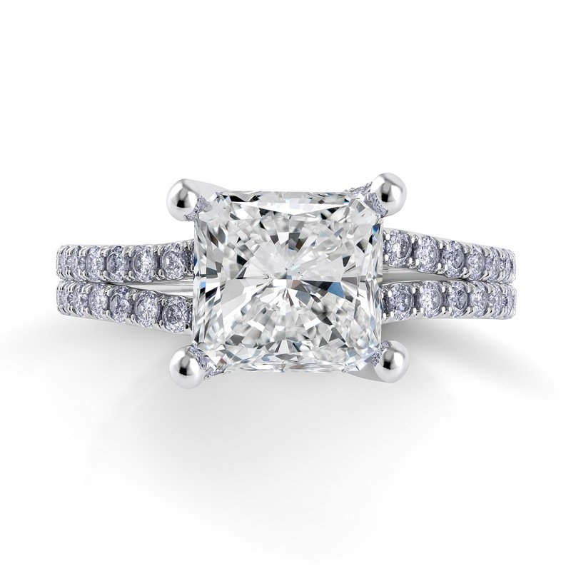 Danhov Eleganza Double Shank Engagement Ring