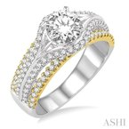 ASHI semi-mount diamond engagement ring