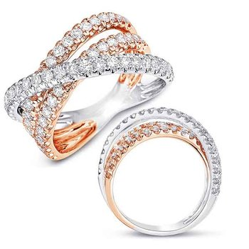Rose &  White Gold Fashion Ring