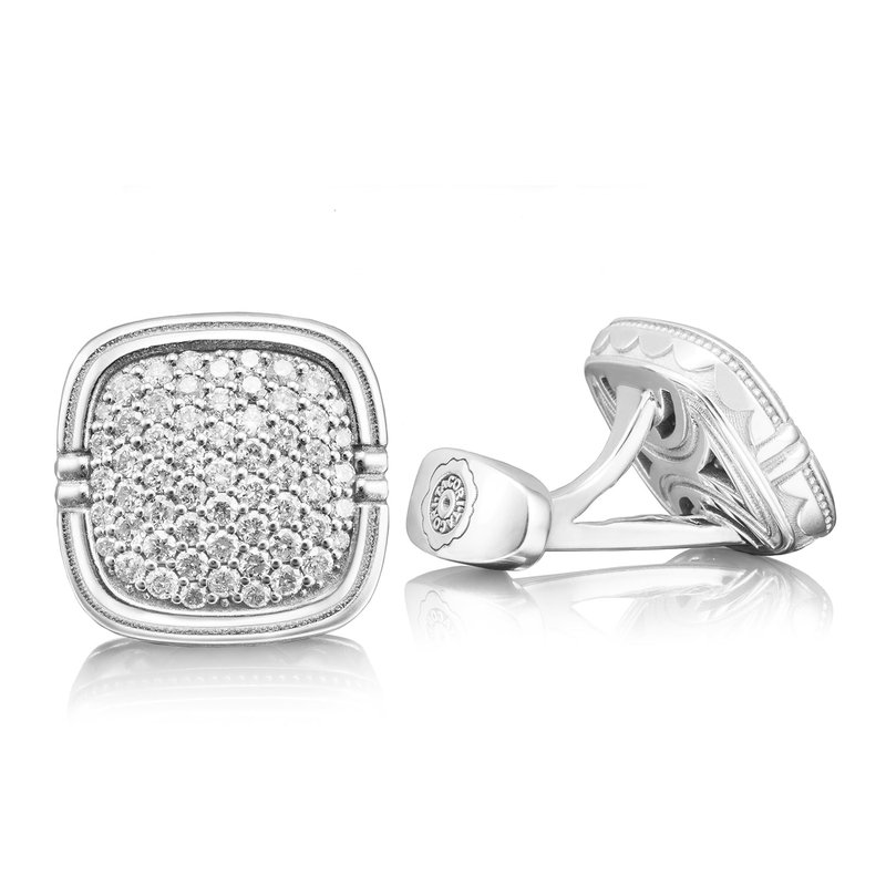 Tacori Fashion Pavé Diamond Cuff Links featuring Diamonds