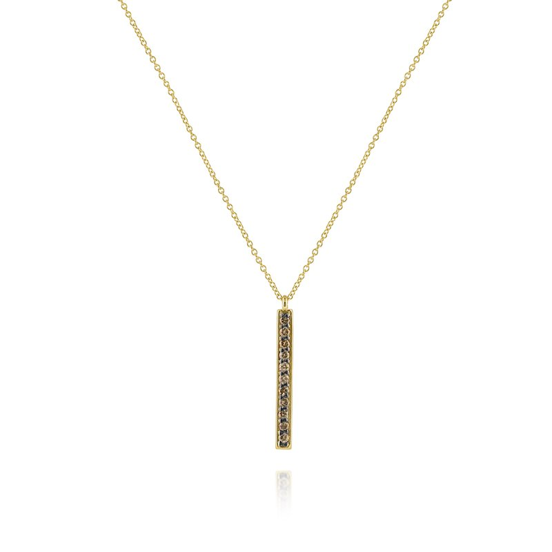 KC Designs 14K Gold and Diamond Pave Stick Pendant