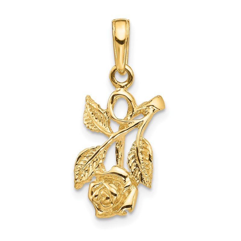 Quality Gold 14k Rose Pendant