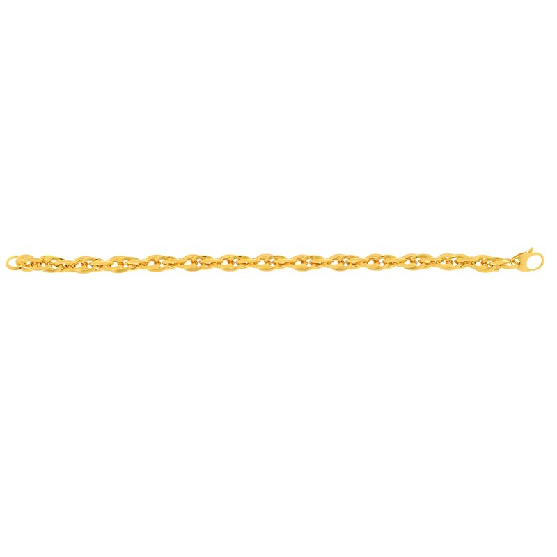 Royal Chain 14K Gold Double Oval Link Bracelet