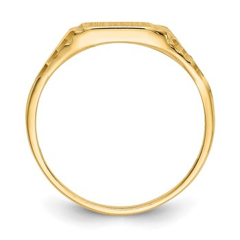 14k Childs Diamond-Cut Signet Ring