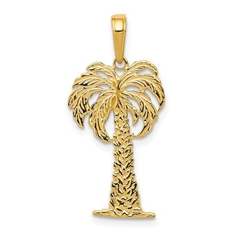 14k Palm Tree Pendant