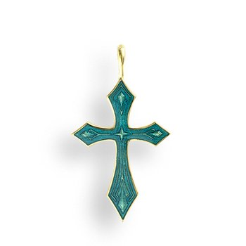 Blue Cross Pendant.18K