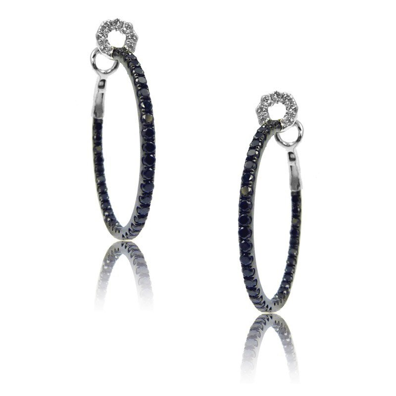 MAZZARESE Couture Gothica Black Diamond Hoops