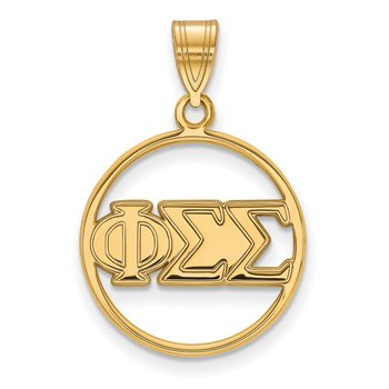 Gold-Plated Sterling Silver Phi Sigma Sigma Greek Life Pendant