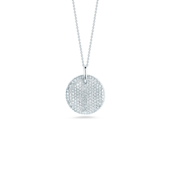 18KT GOLD DIAMOND LARGE DISC PENDANT