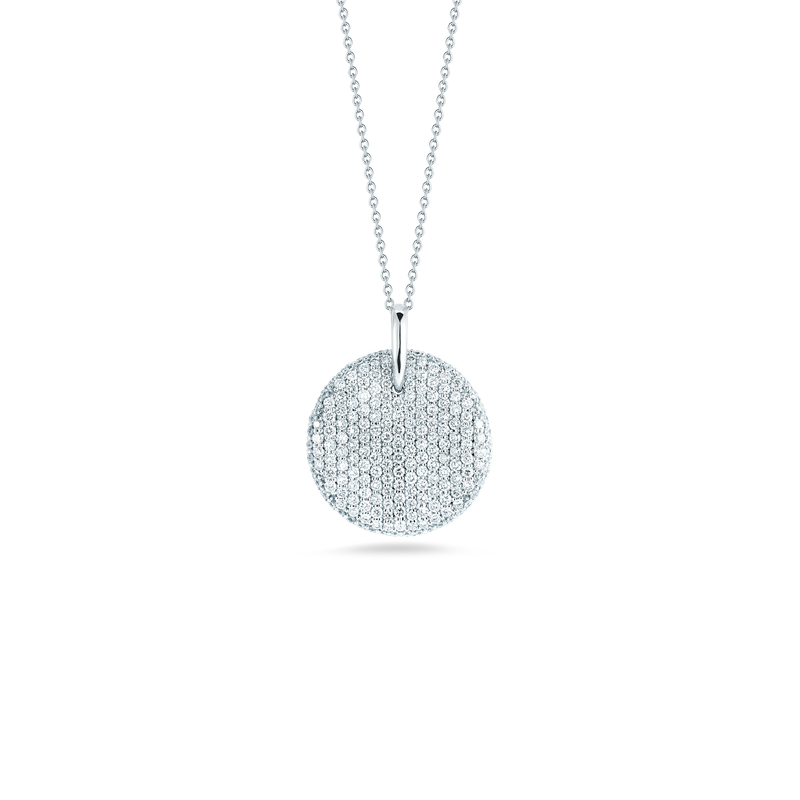 Roberto Coin 18Kt Gold Diamond Large Disc Pendant
