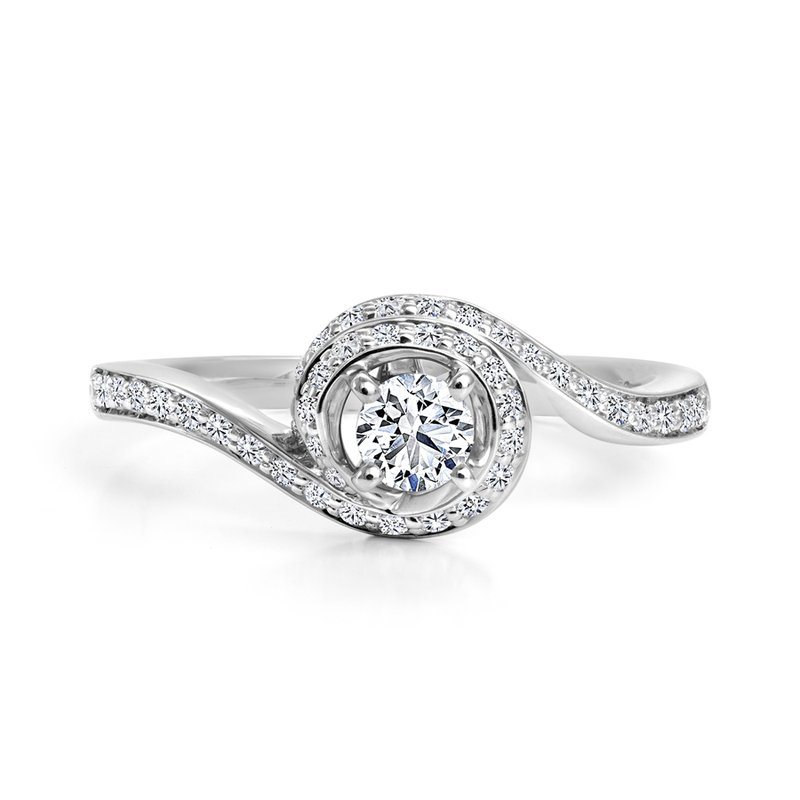 Canadian Rocks Diamond Accent Engagement Ring