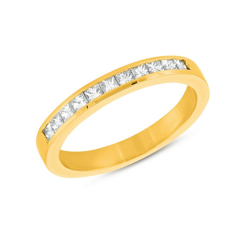 S. Kashi & Sons Bridal Yellow Gold Princess Band