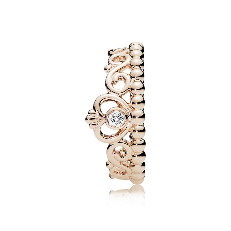 PANDORA My Princess Tiara Ring, Pandora Rose™ Clear Cz