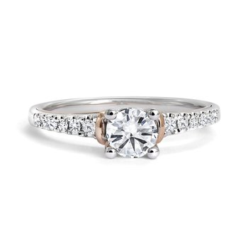 Engagement Ring with Pave Diamonds