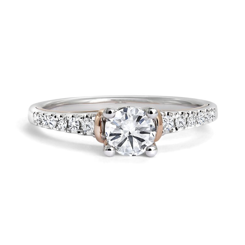 Canadian Rocks Engagement Ring with Pave Diamonds