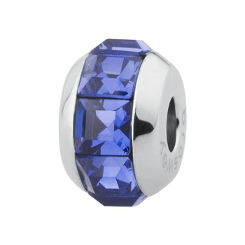 316L stainless steel and sapphire Swarovski® Elements