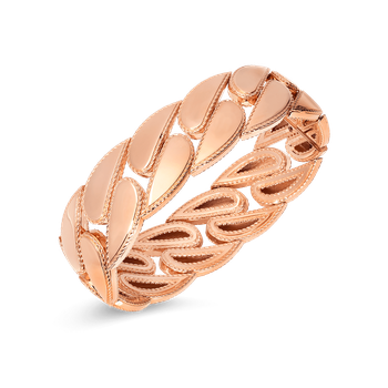 Gourmette Link Bangle &Ndash; 18K Rose Gold