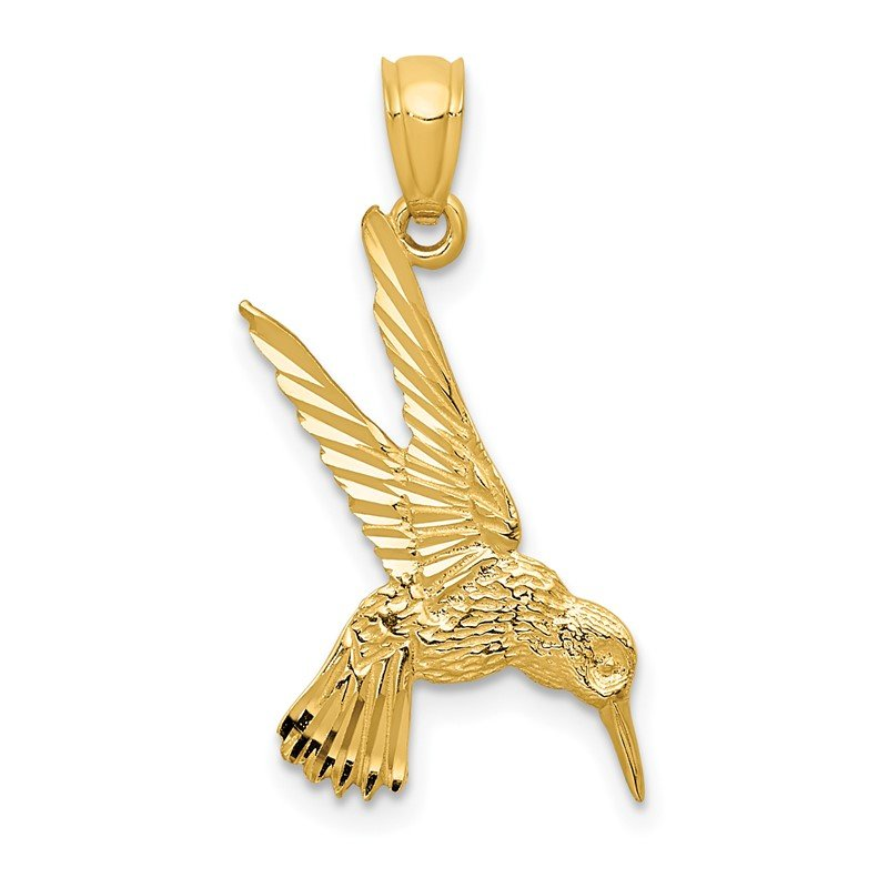 Quality Gold 14k Hummingbird Pendant