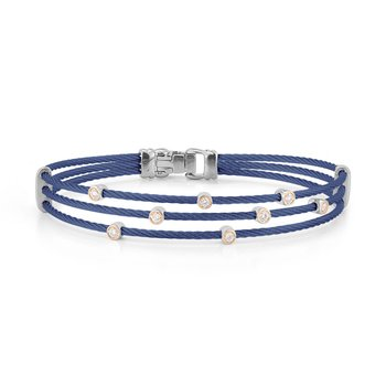 Blueberry Cable Triple Strand Bracelet with 18kt Rose Gold & Diamonds