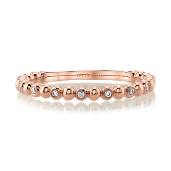 MARS 27245 Diamond Beaded Stackable, 0.06 Ctw