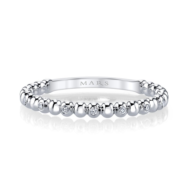 MARS Jewelry MARS 27245 Diamond Beaded Stackable, 0.06 Ctw