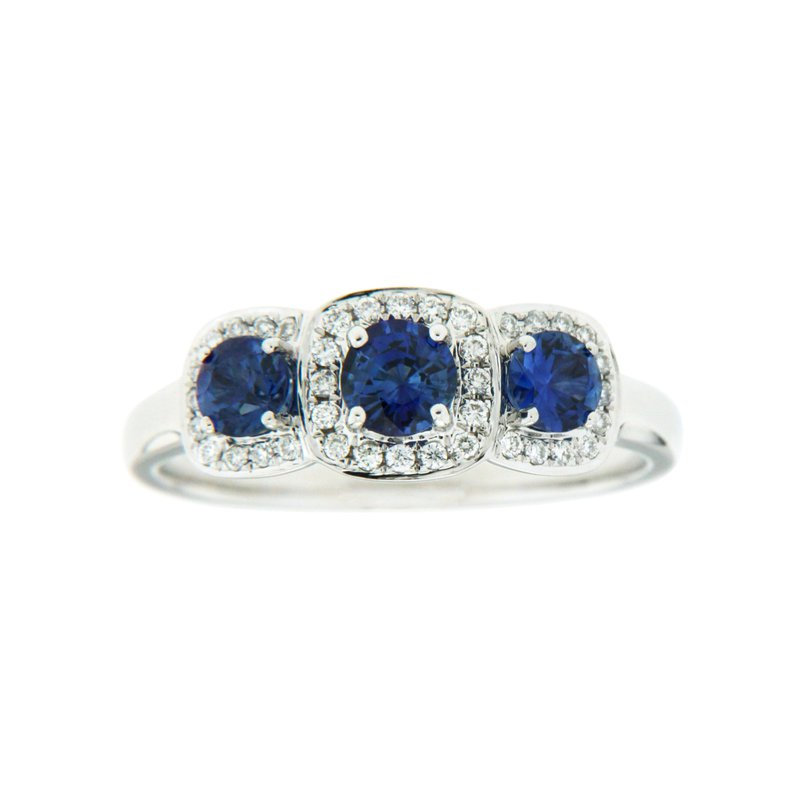 Paragon Fine Jewellery 18k White Gold Ring with Sapphire & Diamond