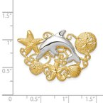 Quality Gold 14k Two-tone Sea Life Fits 5mm/6mm Slide