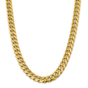 14k 12.6mm Semi-Solid Miami Cuban Chain