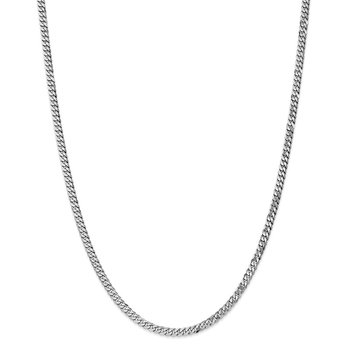 Leslie's 14k White Gold 3.9mm Flat Beveled Curb Chain