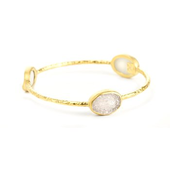 Pallas 3 Druzy Gold Bangle