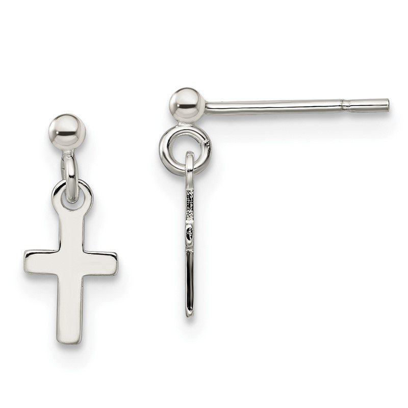 Quality Gold Sterling Silver Cross Post Earrings
