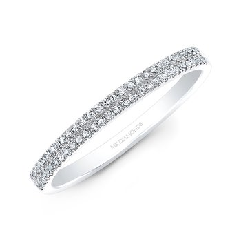 White Gold Two Row Pave Band