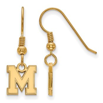 Gold-Plated Sterling Silver University of Memphis NCAA Earrings