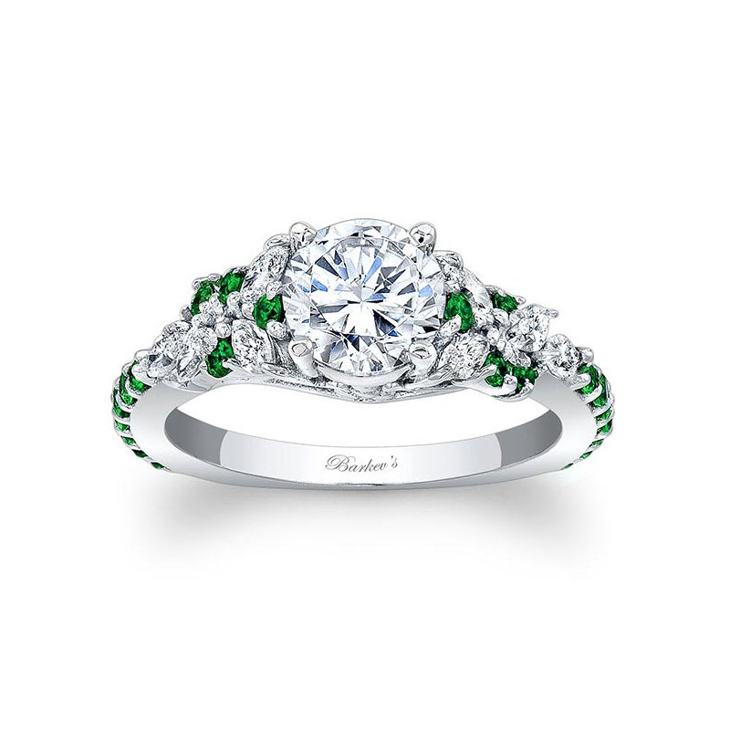 Barkev's Tsavorite Engagement Ring