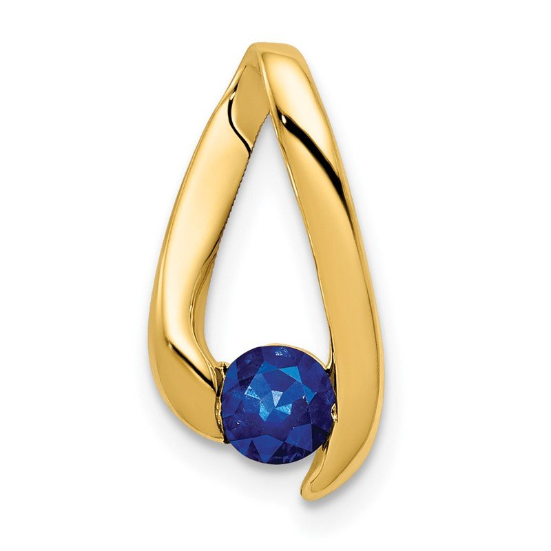 Quality Gold 14k 4mm Sapphire pendant