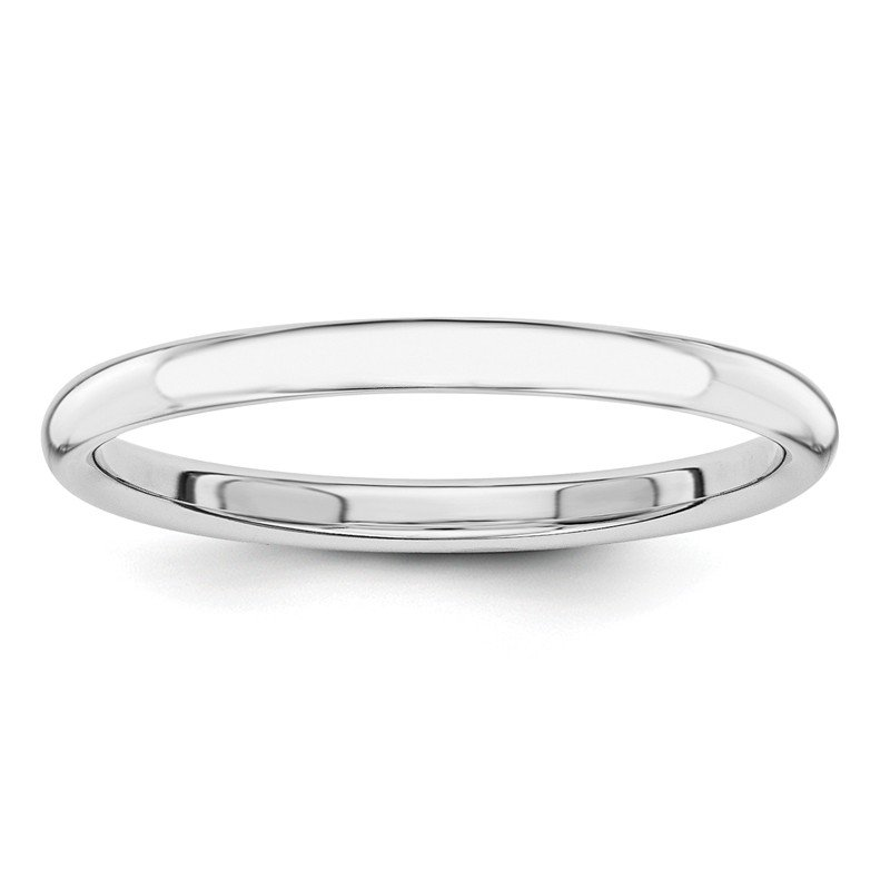 Quality Gold 14k White Gold Polished 2mm Band