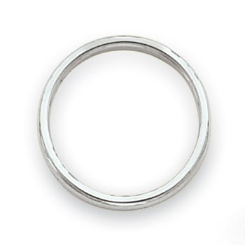 14k White Gold Polished 2mm Band