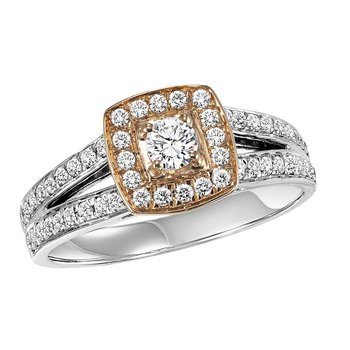 14K Diamond Engagement Ring 5/8 ctw Complete