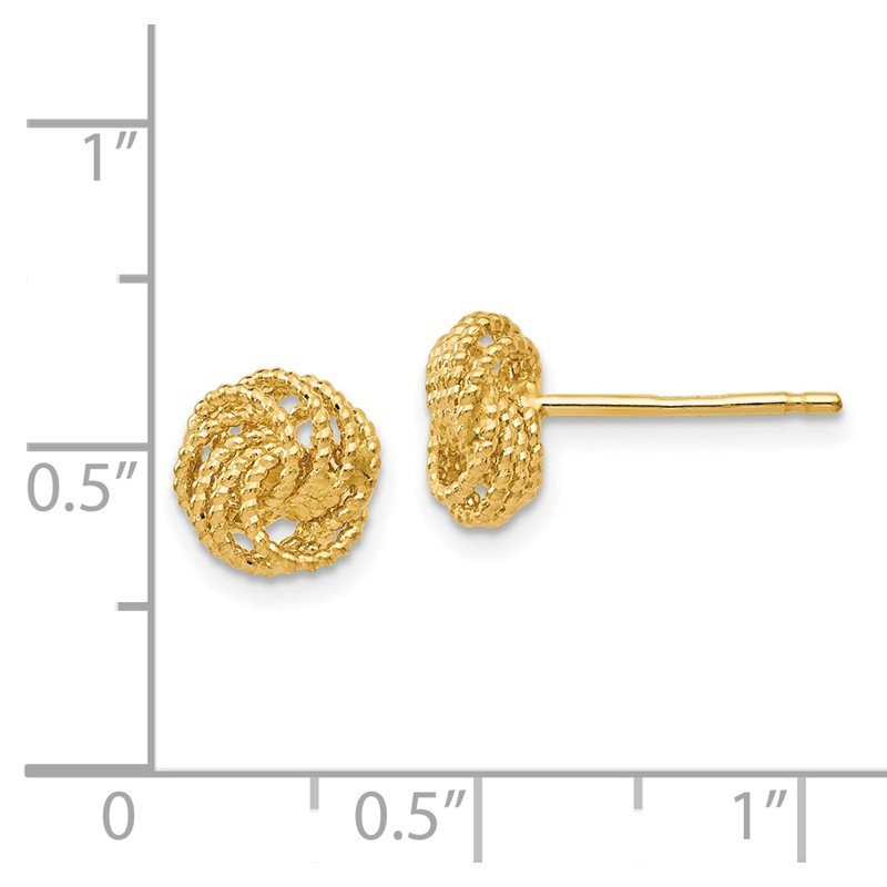 Leslie's Leslie's 14K Textured Love Knot Post Earrings