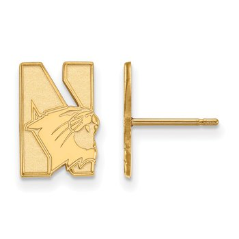 Gold Northwestern University NCAA Earrings