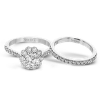 Simon G MR2579 WEDDING SET