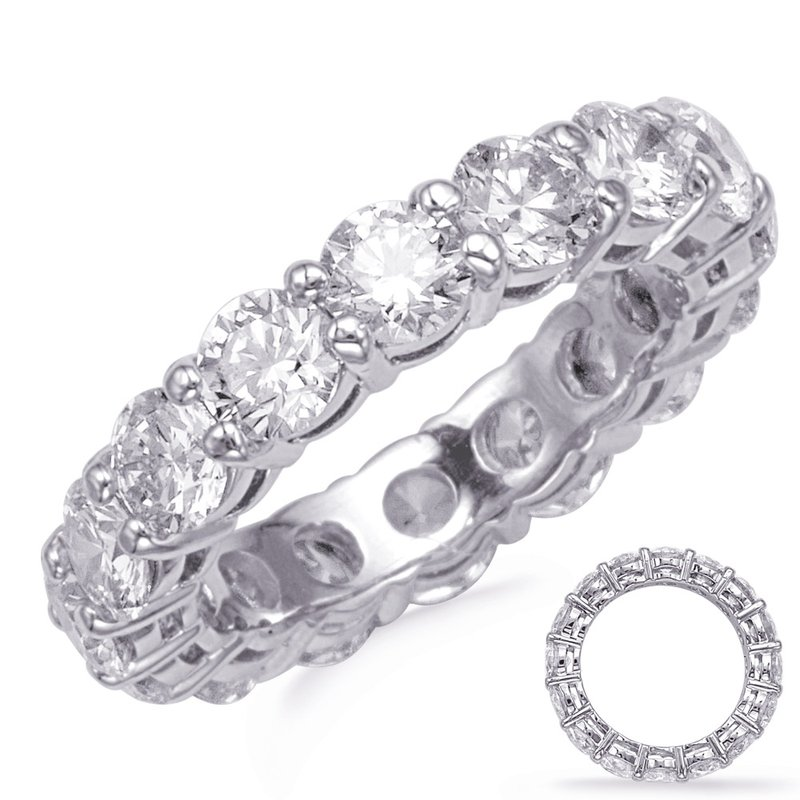 S. Kashi & Sons Bridal Platinum Shared Prong Eternity Band