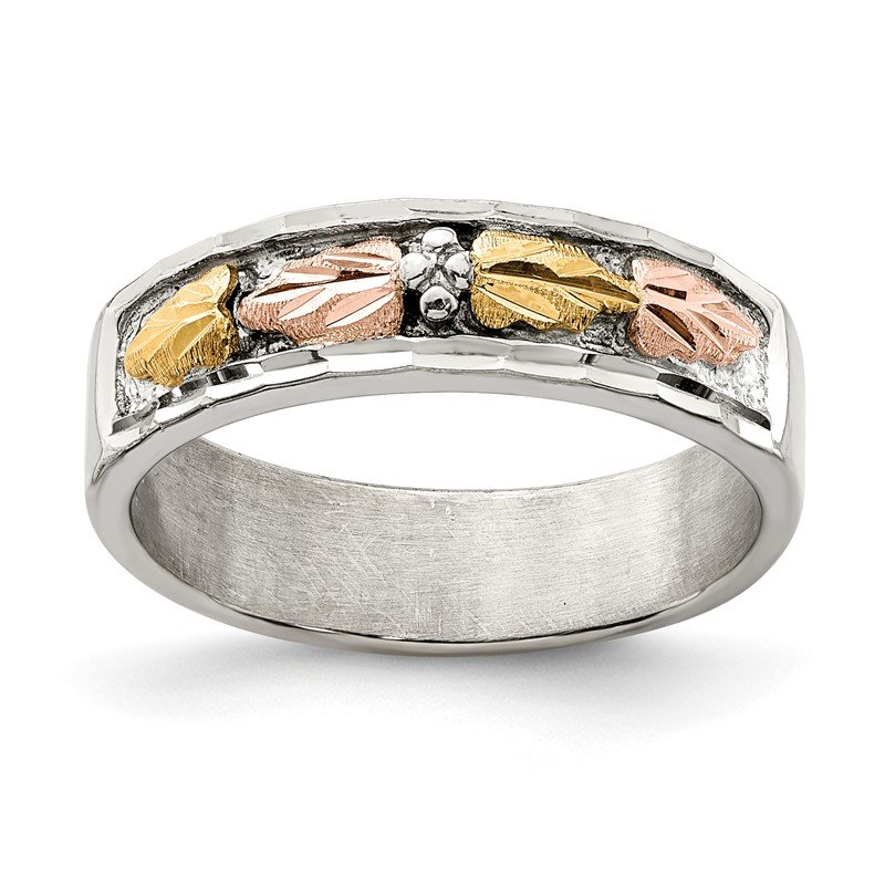 Quality Gold Sterling Silver & 12k Ring