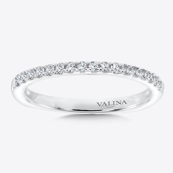 Diamond and 14K White Gold Wedding Ring (0.2 ct. wt.)