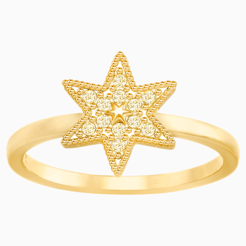 Swarovski Field Star Ring, Golden, Gold-tone plated