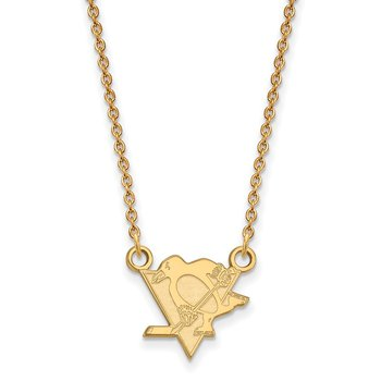Gold-Plated Sterling Silver Pittsburgh Penguins NHL Necklace