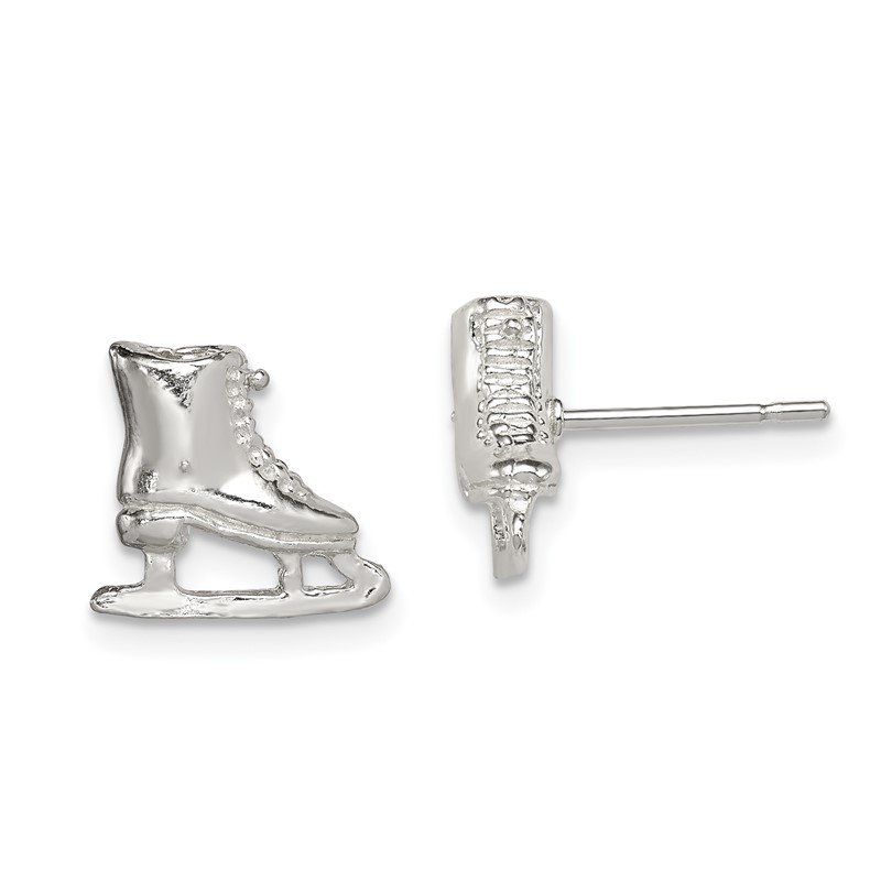 Lester Martin Online Collection Sterling Silver Ice Skate Mini Earrings